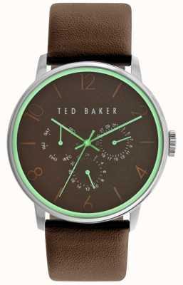 Ted Baker Mens de línea de cuero marrón de la correa marrón TE10023496