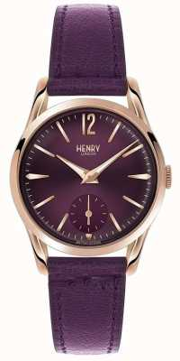 Henry London Womens línea púrpura de cuero púrpura hampstead HL30-US-0076