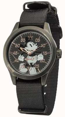 Disney By Ingersoll reloj de Mickey ratón con correa de nylon negro DIN008BKBK