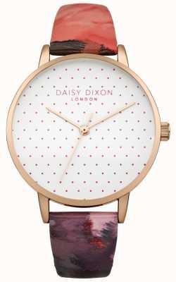 Daisy Dixon Reloj de mujer suki rosa brillante correa de cuero DD008PRG