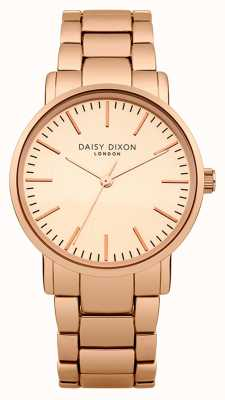 Daisy Dixon dial de espejo para mujer Kate mate, pvd oro rosa DD004RGM
