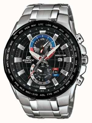 Casio Mens edificio cronógrafo de acero inoxidable EFR-550D-1AVUEF