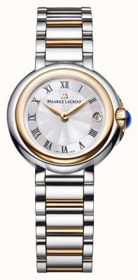Maurice Lacroix Fiaba 26mm mujer de dos tonos de plata dial FA1003-PVP13-110-1