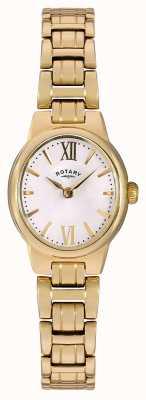 Rotary Oro blanco pvd chapado en esfera blanca LB02748/01