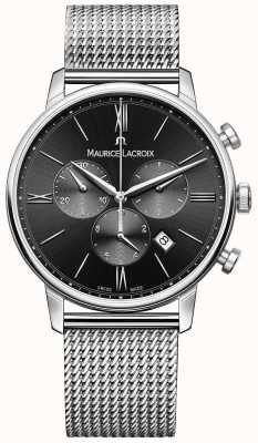 Maurice Lacroix Acero inoxidable esfera de color negro para hombre Milanais EL1098-SS002-310-1