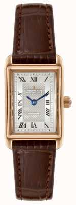 Dreyfuss Para mujer 1974 de cuero marrón reloj de plata de la correa DLS00143/06