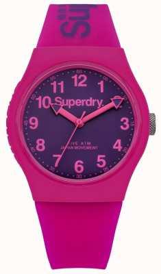 Superdry Unisex rosada urbana y correa de caucho de color púrpura SYG164PV