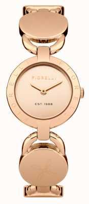 Fiorelli Mujeres rosa pulsera de oro rosa esfera de oro FO001RGM