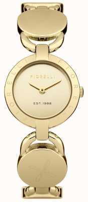 Fiorelli Womens esfera de oro pulsera de oro FO001GM