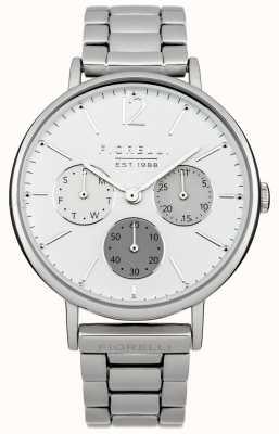Fiorelli Womens esfera blanca pulsera de plata FO002SM