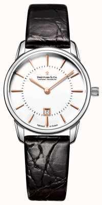 Dreyfuss Reloj de cuero para mujer 1980 DLS00135/01