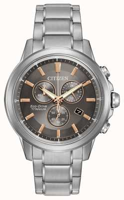 Citizen Eco-Drive caballeros de titanio WR100 AT2340-56H