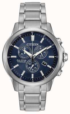 Citizen cronógrafo de titanio de conducción ecológica AT2340-56L