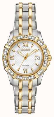 Citizen Eco-drive 28 diamantes para mujer de dos tonos EW2364-50A