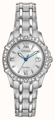 Citizen Eco-Drive de acero inoxidable 28 diamantes EW2360-51A