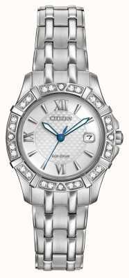 Citizen Eco-drive 28 diamantes acero inoxidable EW2360-51A