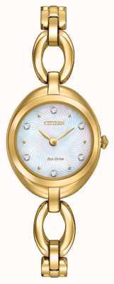Citizen Las señoras del dial de cristal-eco drive EX1432-51D