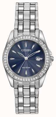Citizen Para mujer cristalina de la caja de la silueta de conducción ecológica EW2350-54L