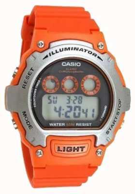 Casio alarma de los deportes unisex del cronógrafo del iluminador W-214H-4AVEF