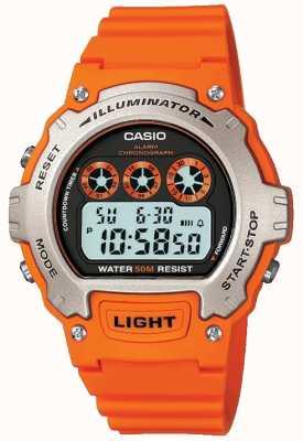 Casio Cronógrafo iluminador unisex con alarma deportiva W-214H-4AVEF