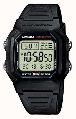 Casio cronógrafo deportivo de alarma de engranajes W-800H-1AVES