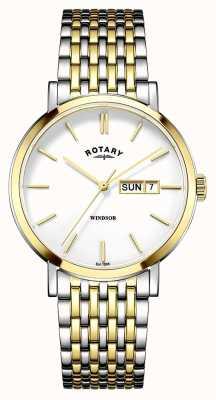 Rotary Para hombre chapado en oro de dos tonos GB05301/01