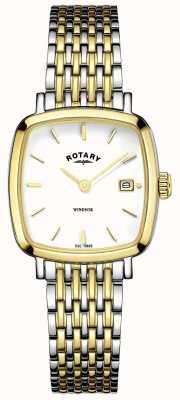 Rotary Para mujer de la correa de metal en dos tonos LB05306/01