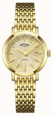 Rotary Relojes de Windsor oro chapado LB05303/03