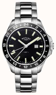 Rotary Mens Habana GMT de acero inoxidable GB05017/04