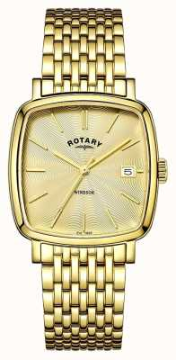 Rotary Mens Windsor PVD chapado en oro GB05308/03