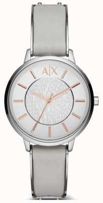 Armani Exchange reloj de la correa de cuero de las señoras Olivia AX5311