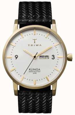 Triwa Unisex Klinga esfera blanca con correa de cuero KLST103-GC010113