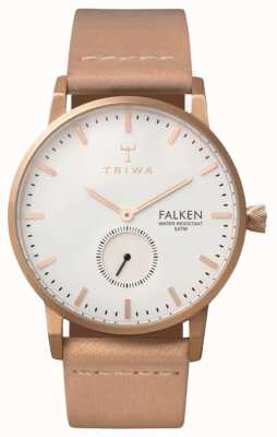 Triwa correa de cuero de línea blanca unisex subió Falken FAST101-CL010614