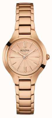 Bulova Mujeres rosa acabado de oro 97L151