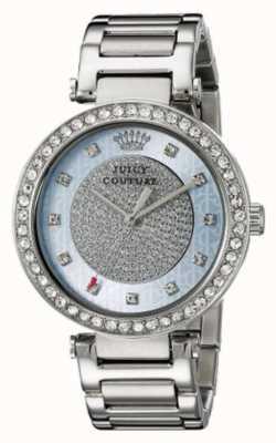 Juicy Couture Para mujer de la correa de plata esfera de plata redonda 1901266