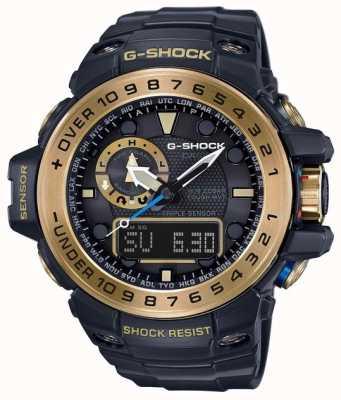 Casio Gulfmaster maestro de g negro y oro GWN-1000GB-1AER