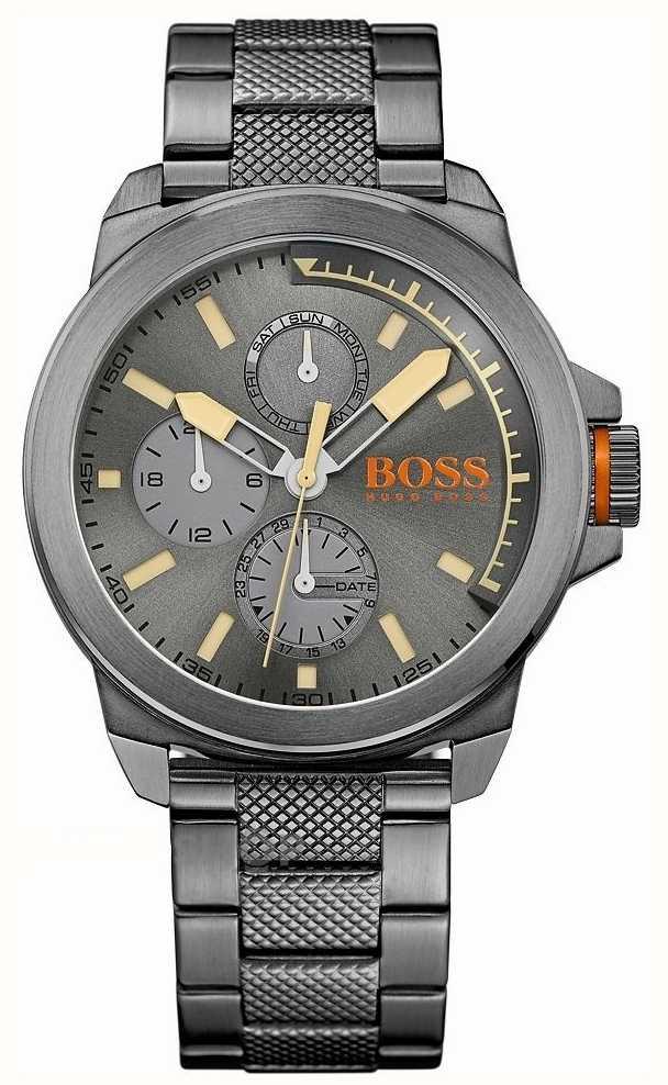 3d693e02e71a Hugo Boss Orange Mens NewYork Acero Ip Gris 1513319 - First Class ...