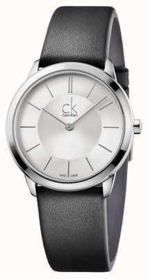 Calvin Klein Mens esfera de plata mínimo K3M221C6