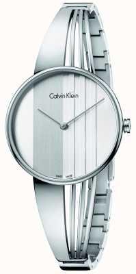 Calvin Klein Mujeres deriva esfera de plata K6S2N116