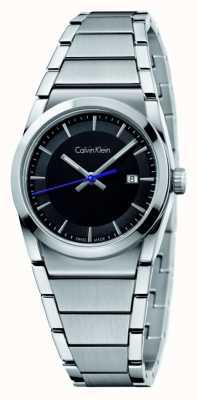 Calvin Klein Mens paso esfera de color negro K6K31143