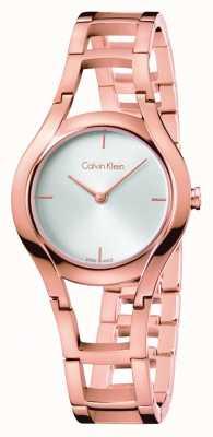 Calvin Klein las mujeres de clase Rose plateado oro K6R23626