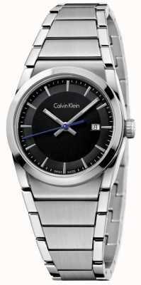 Calvin Klein Damas paso del dial del reloj negro K6K33143