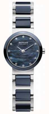 Bering Para mujer de línea azul de plata azul de la correa plateada 10725-787