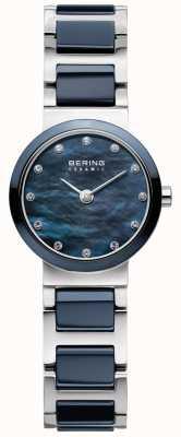Bering Para mujer de línea azul de cerámica azul de la correa 10729-787