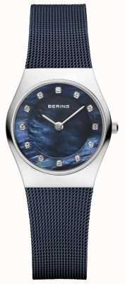 Bering Para mujer esfera azul azul de la correa 11927-307