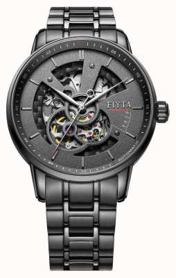 FIYTA Mens negro brazalete de acero inoxidable GA8486.BBB