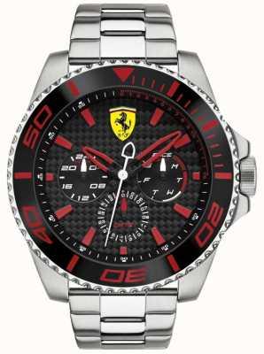 Scuderia Ferrari Hombre de acero multifunción reloj de fibra de carbono reloj 0830311
