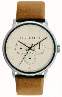 Ted Baker crema unisex con el movimiento de tres manecillas TE10029569
