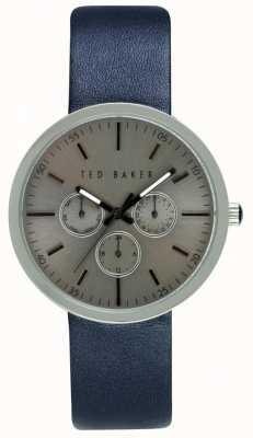 Ted Baker caso 42 mm para hombre con esfera de plata TE10026553