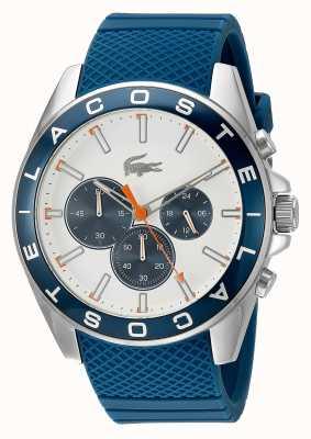 Lacoste reloj cronógrafo azul correa de los hombres de Westport 2010854